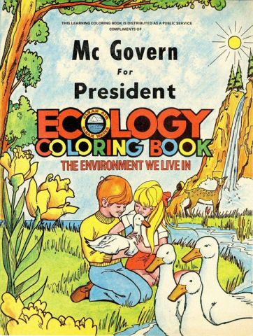 "Ecology coloring was distributed by the ""McGovern For President"" campaign, 1972.jpg"