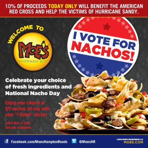 MOHR I Vote Nachos E-blast HURRICANE SANDY.jpg