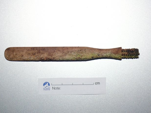 Toothbrush from the Franklin crew, located during the 2012 field season on King William Island..jpg