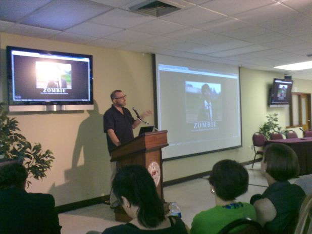 Image of the bava presenting on zombies