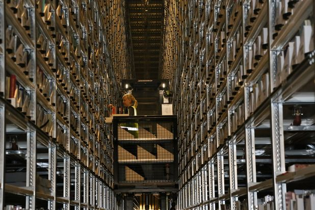 Book Storage Facility book retrieval, Bodleian Libraries, University of Oxford.jpg