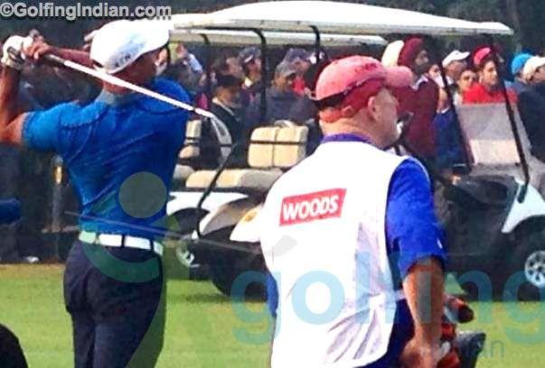 Tiger Tees Off At Delhi Golf Club.jpg