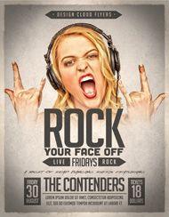 Design Cloud: Rock Your Face Off Flyer Template