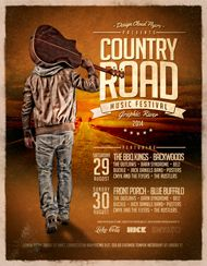 Design Cloud: Country Road Music Festival Flyer Template
