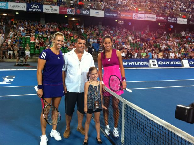 Tia from nab client AP Fire coin toss for Australia Vs Serbia.jpg