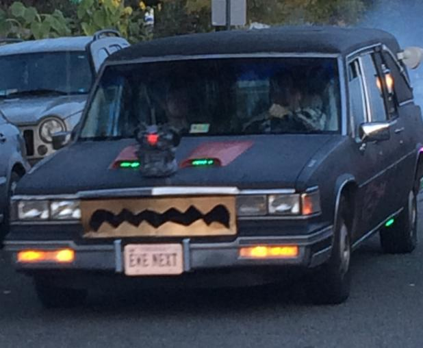 Creepy car spotted in Alexandria, Virginia on Halloween