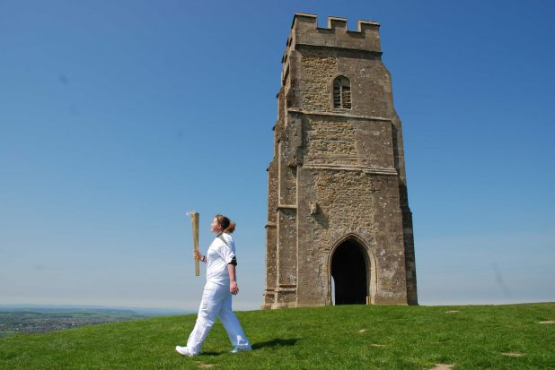 Olympic Torch on Glastonbury Tor.jpg