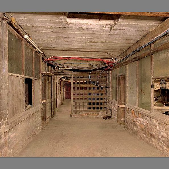 Section of Keighley's Royal Arcade discovered underground during renovation work 2003. TX Nick Catfo.jpg