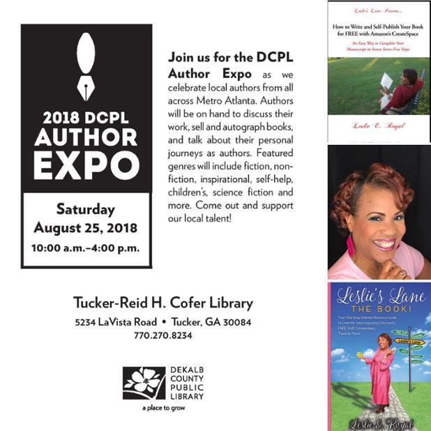 DeKalb Library Author Expo or book Fair Collage.JPG