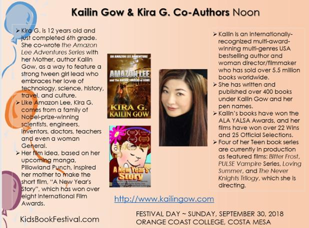Kailin and Kira Gow on the Middle Grade and Teen Stage at OCCBF.jpg