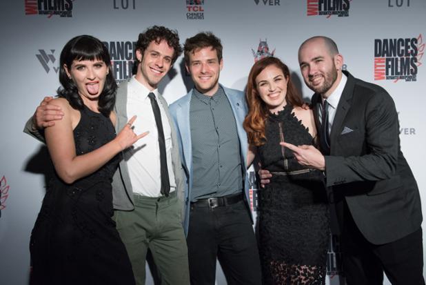 Marzy Hart, Jay DeYonker, Ben Rappaport, Stacey Maltin, Dani Tenenbaum on the red carpet of Dances With Films Landing Up World Premiere.jpg