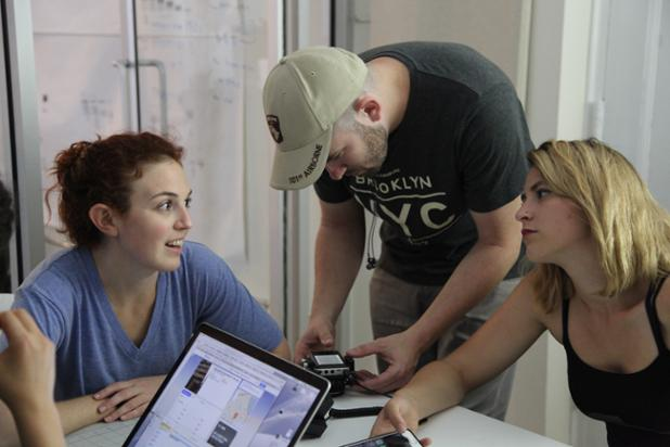 Stacey Maltin, Marzy Hart, and Dani Tenenbaum, on set of Landing Up copy.jpg