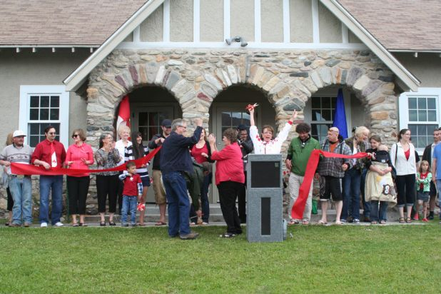 Canada Day Waterton Community Centre ribbon cutting small 2012.jpg
