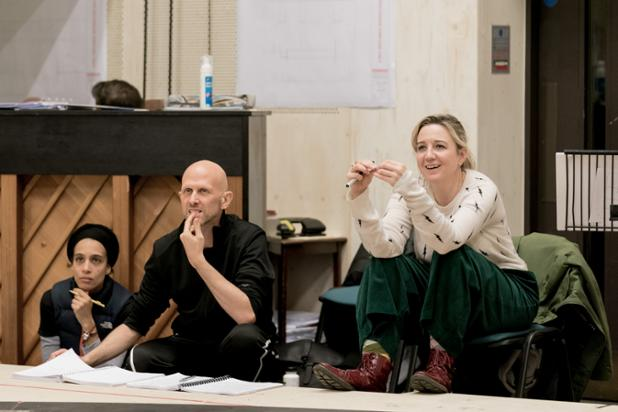 Laila Diallo, Wayne McGregor and Josie Rourke in rehearsals for Sweet Charity at the Donmar Warehouse. Photo by Manuel Harlan 062.jpg