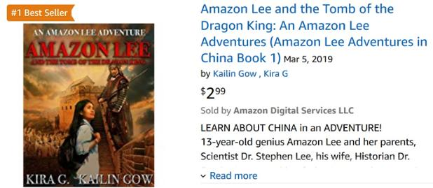 Amazon Lee and the Tomb of the Dragon King is #1 Bestseller.jpg