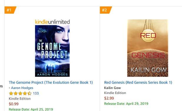 Red Genesis is Top Teen in Science Fiction New Releases.jpg