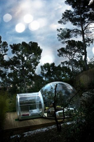 Would you spend a night on this bubble tent.jpg
