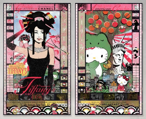 Hello Breakfast, Kitty Golightly (Diptych) by Sean D'Anconia.jpg