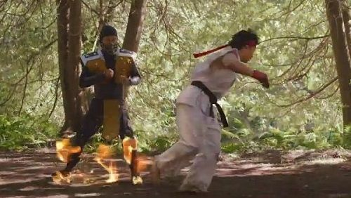 Mortal Kombat's Scorpion vs. Street Fighter's Ryu (Live Action)