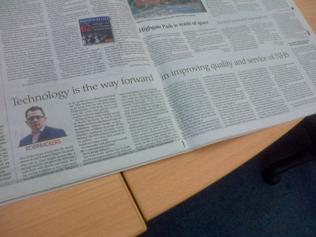 Robin Vickers in the Birmingham Post 13-09-12.jpg