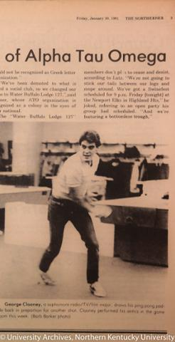 George Clooney in the NorthernerMedia 1981 - Throwback Thursday A6oxu