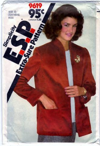Simplicity 9619 Misses Unlined Jacket ESP Front Scanned 01-28-2015.JPG