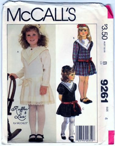 McCalls 9261 Childrens and Girls Dress Front Scanned 07-05-2015.JPG