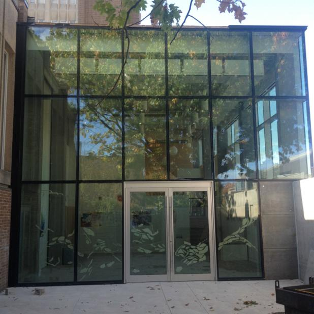 Dr. Robert & Andree Rheaume Fitzhenry Studio Curtain wall Aluminum glass entrance.JPG