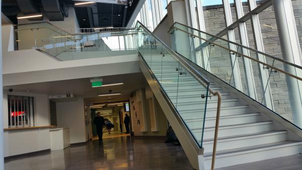 Jack Burger Sports Complex Aluminum GLass Railing Complete.jpg