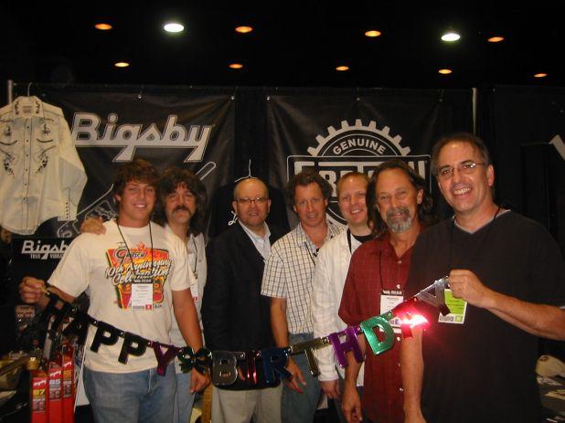 Will, Terry, Colin, Jay, Adam, Gary Forkum & Paul Cooper Send Fred Gretsch Birthday Wishes from Summ.jpg