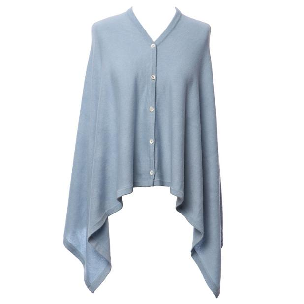 Blue Cashmere wrap with front button.jpg