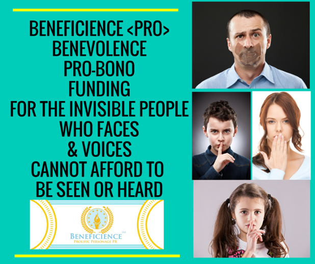 Beneficience Go Fund Me For The Voiceless Needing PROBONO PR.png