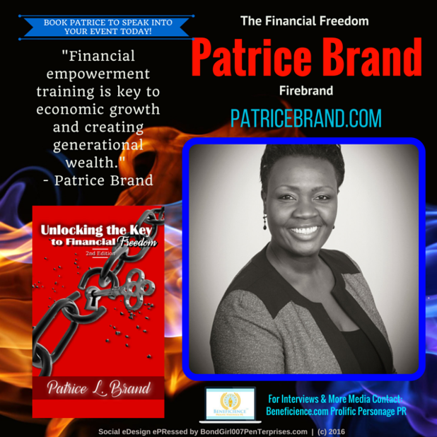 Patrice Brand @patricebrand - Author & Event Speaker, Coach Media Contact Beneficience.com Prolific Personage PR - Social Graphic eDesign eP