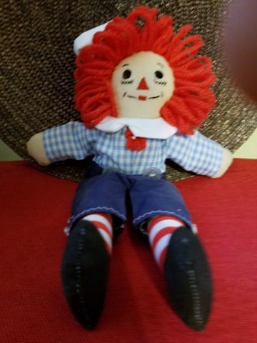 Raggedy Andy 10 Doll Lt. Blue Checkered Top (1).jpg