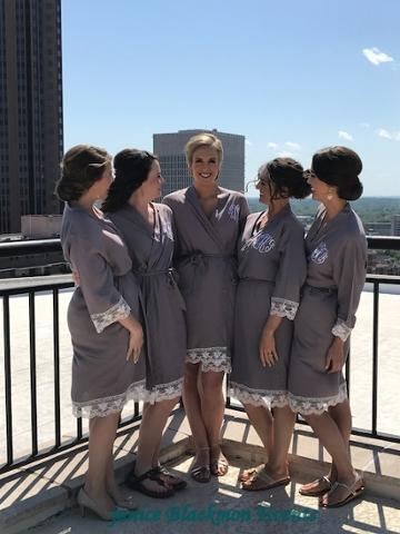Bridal Party in Robes on Roof ~ Hamlin.JPG