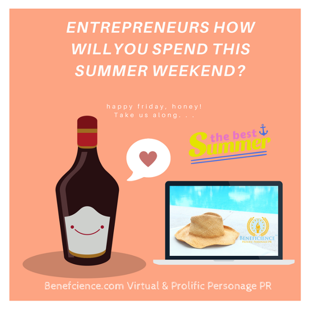Entrepreneurs and the Weekend - Take Beneficience along Social Media Graphic.png