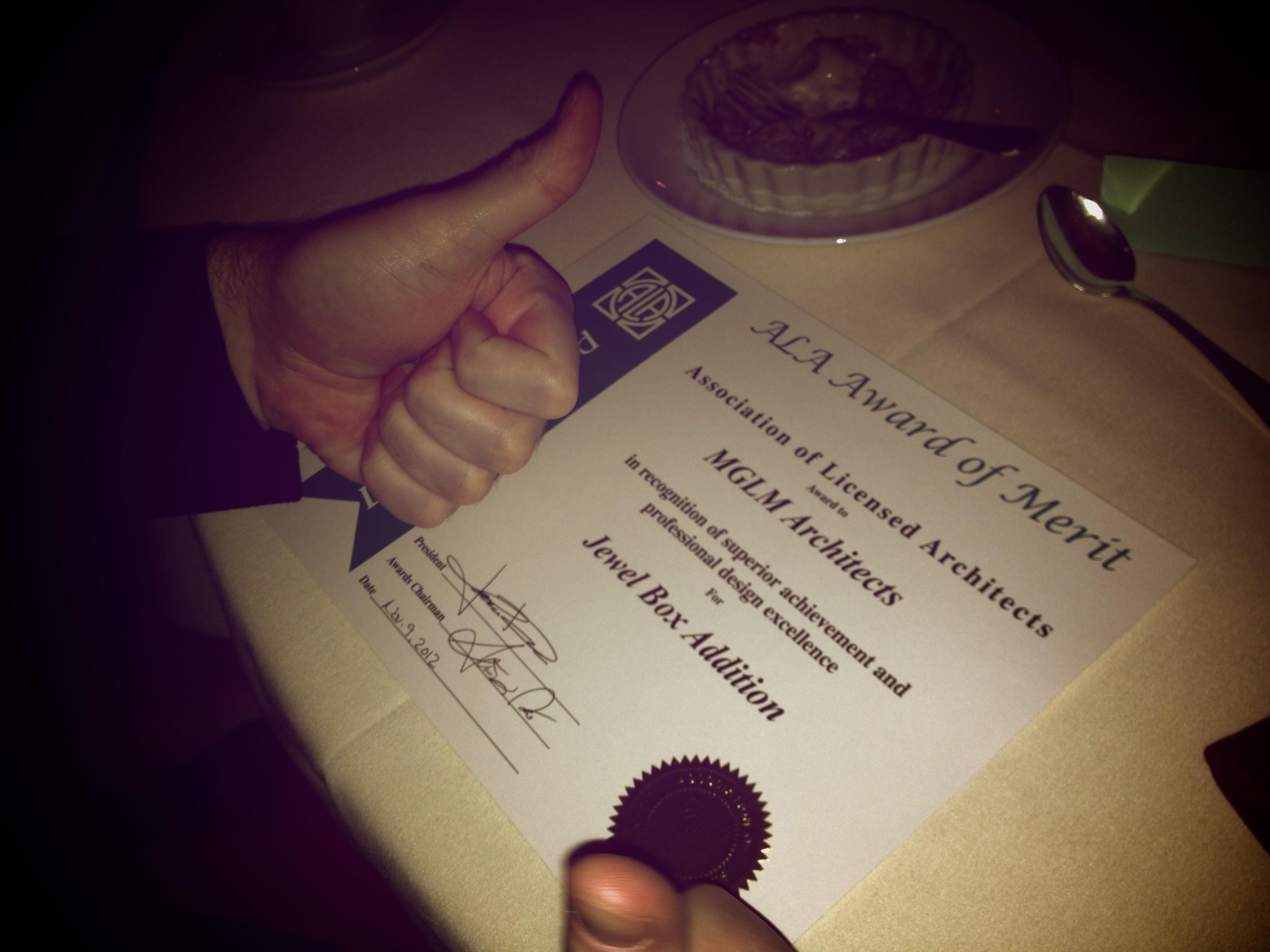 ALA Award-Thumbs Up.jpg