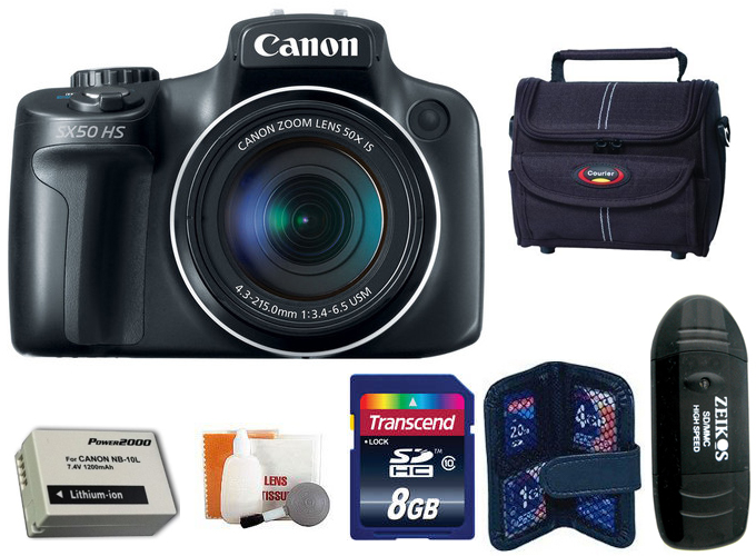 Canon PowerShot SX50 HS Digital Camera + 8 GB Kit