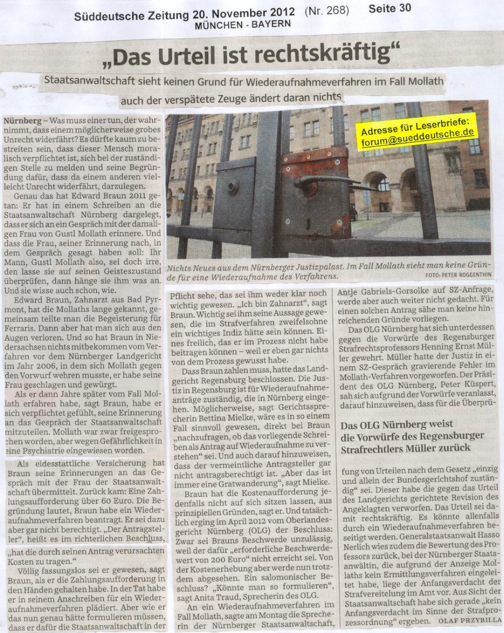 SüddeutscheZeitung 'Das Urteil ist rechtskräftig'  (Di20.11.2012- S.30).jpg