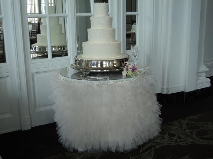 I Do Linens cake table linen ~ McClanahan.jpg