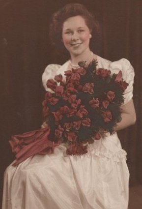 Mama with roses from her Graduation.jpg