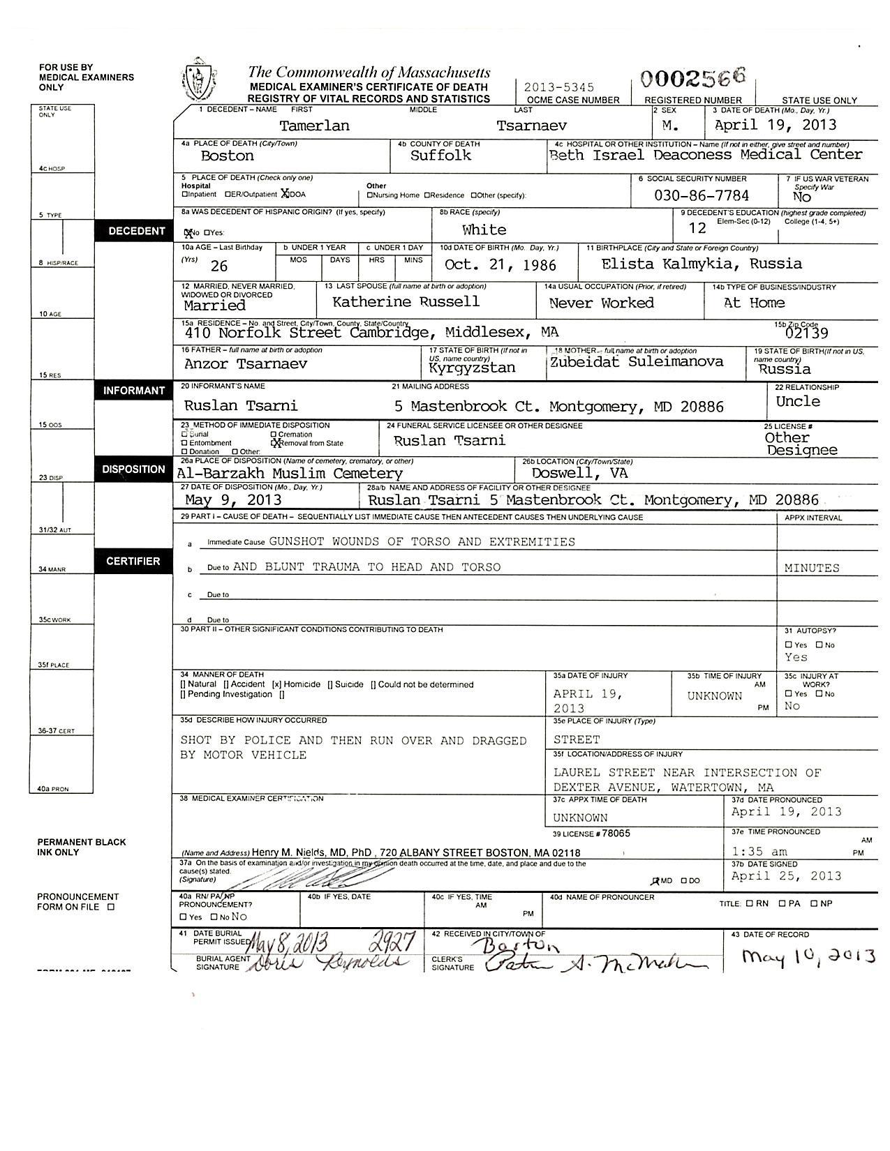 Tamerlan Tsarnaev Boston Death Certificate.jpg