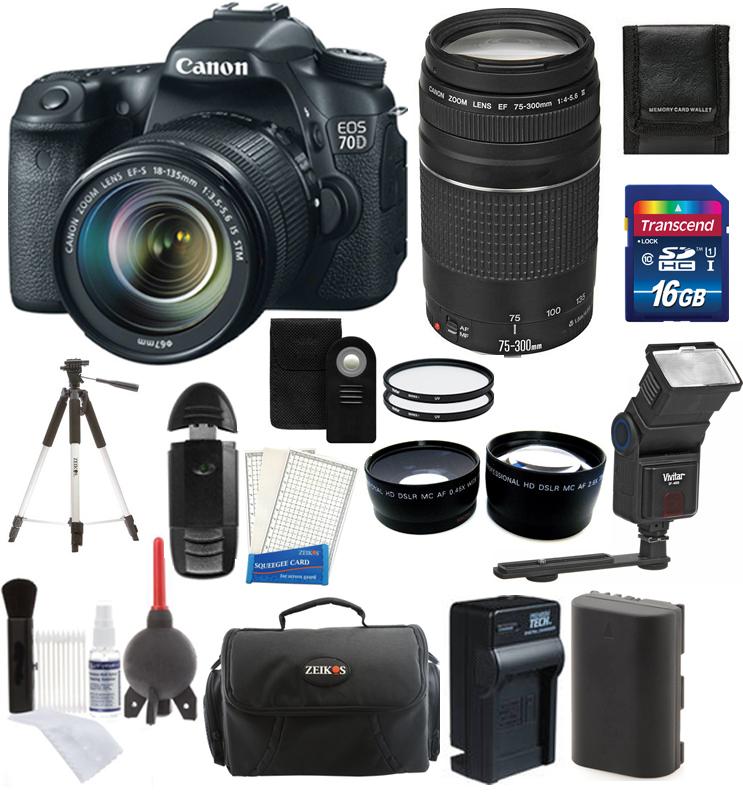 Canon 70D 18 135 Kit EOS 70D SLR Camera Body EF s 18 135mm