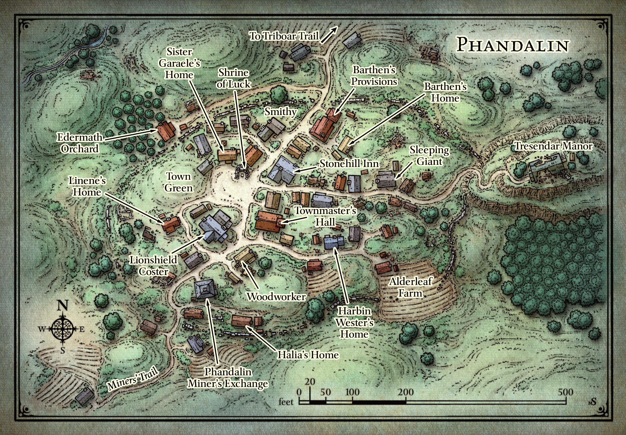 Map of Phandalin 5YAQY