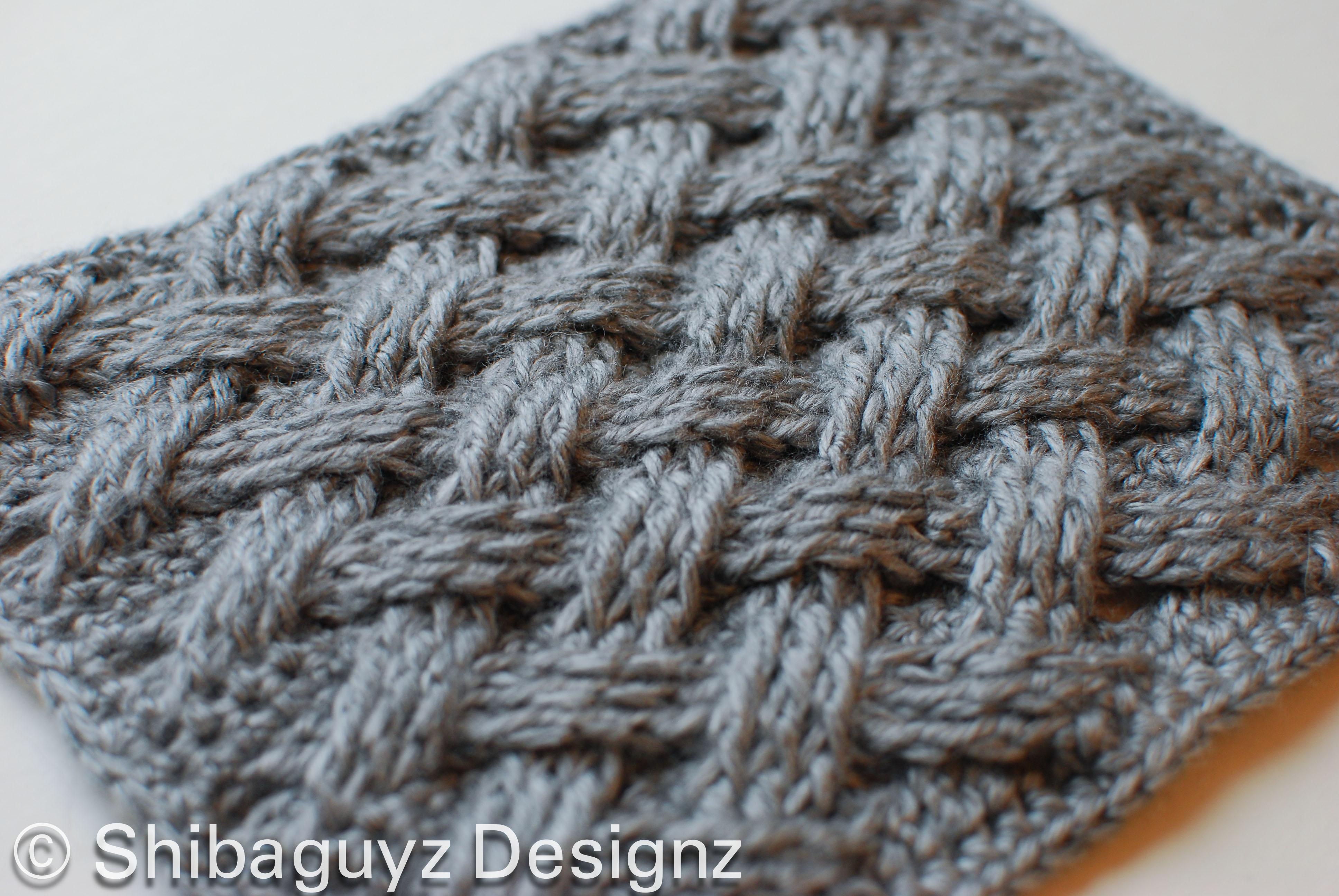 Узор плетенка спицами 14 фотография