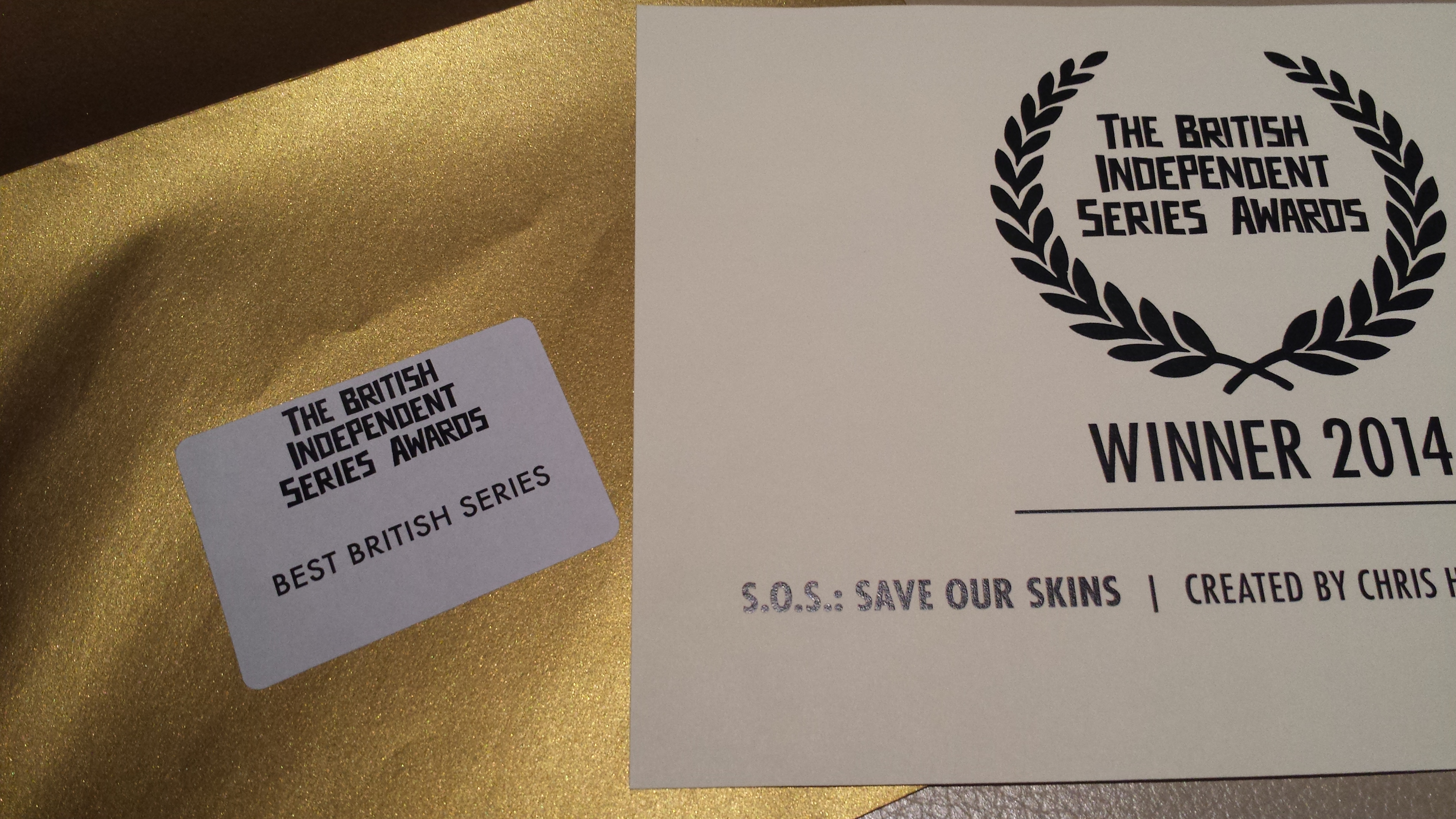 SOS: Save Our Skins wins Best British Series at the Raindance Film Festival #WebFest. Thanks to all who voted!