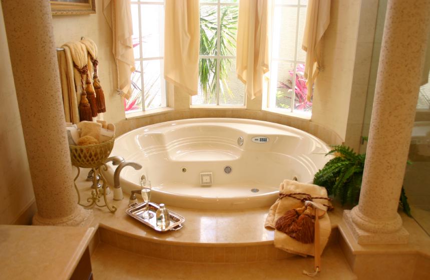 Интерьер ванной комнаты большой фото