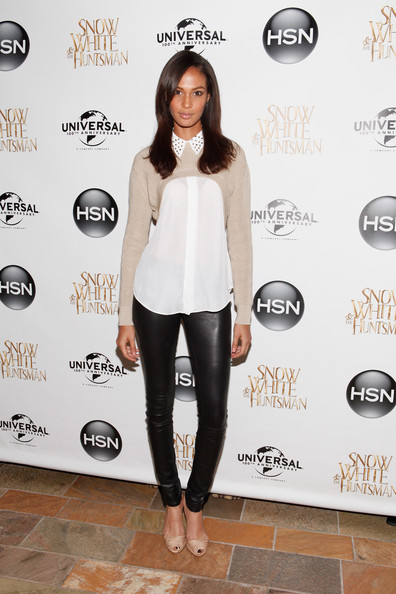 Joan Smalls's HSN Snow White & The Huntsman Collection Launch Studded Collar Blouse, Crop Sweater, a.jpg