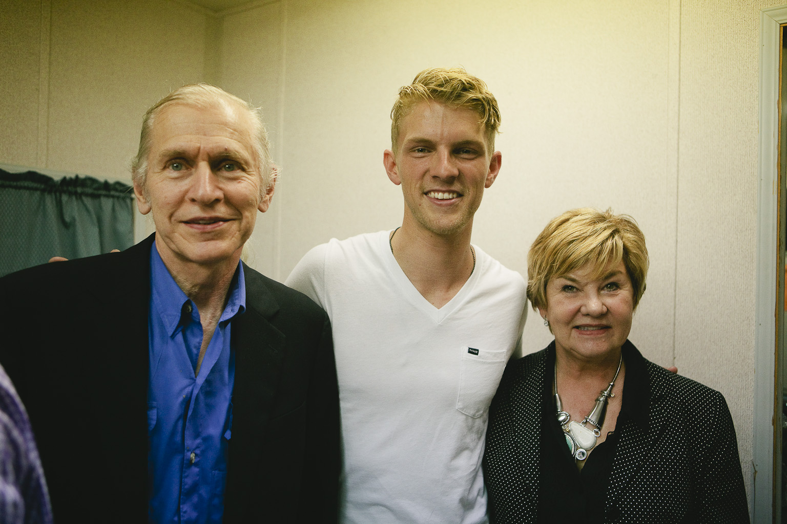 Dinah & Fred Gretsch with Mark Pontius of Foster the People. Photo by Andy Barron..jpg