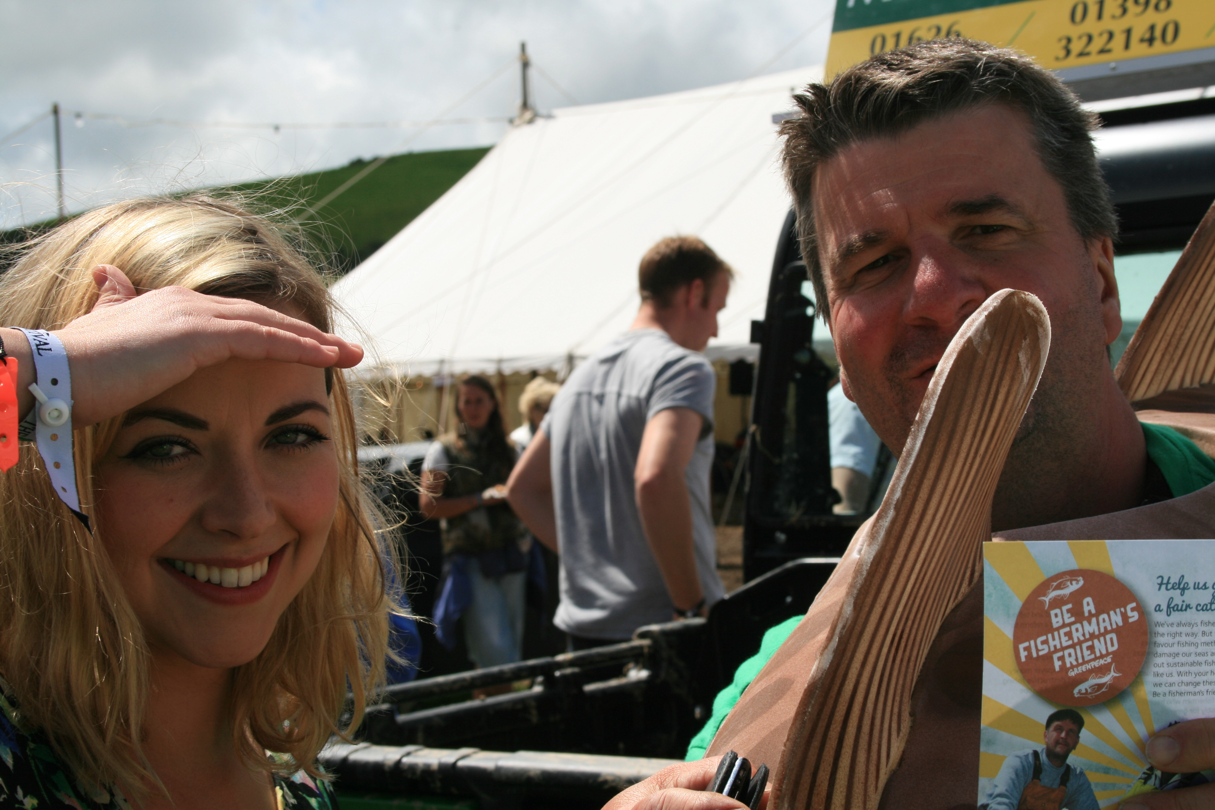 Charlotte Church  and Colin Newman - Rock Oyster festival.jpg